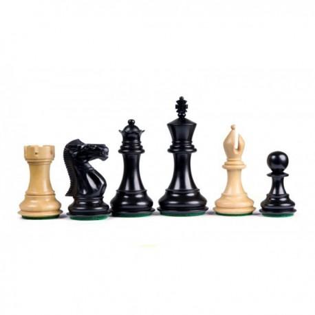 Pièces d'échecs Stallion Staunton noires