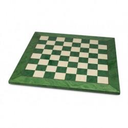 Echiquier érable vert (cases 45 mm)