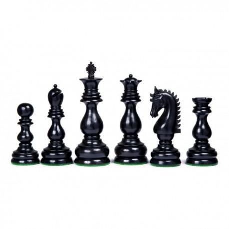 Pièces d'échecs Dublin ébène