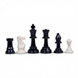 Pièces d'échecs en plastique feutrées N°5 (sans housse)