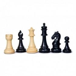 Pièces d'échecs New Staunton ébène