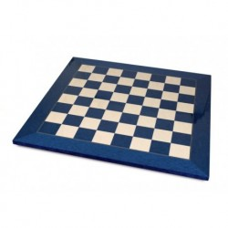 Echiquier érable bleu (cases 55 mm)