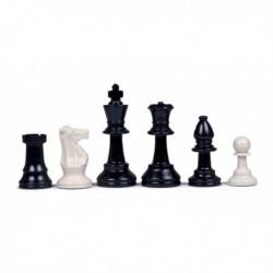 Pièces d'échecs en plastique, plombées-feutrées N°5