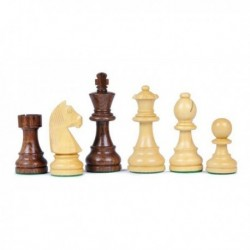 Pièces d'échecs en sheesham N°2, plombees-feutrees