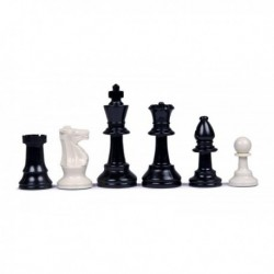 Pièces d'échecs en plastique, feutrées N°4 (sans housse)