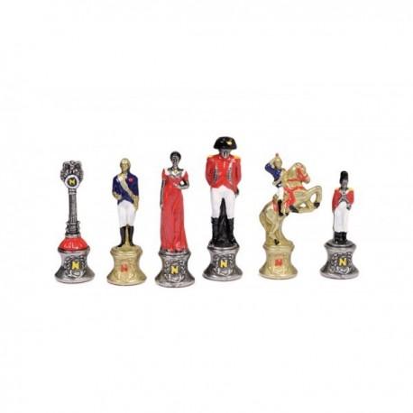 Pièces d'échecs Napoléon en métal