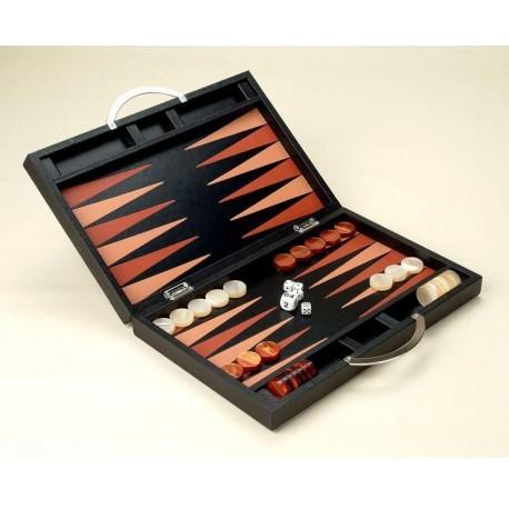 Backgammon Cuir Deluxe